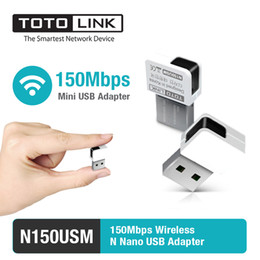 Wholesale Mini Desktop Windows - Wholesale- TOTOLINK N150USM 150Mbps Wireless N Mini USB Adapter Supporting Windows 10