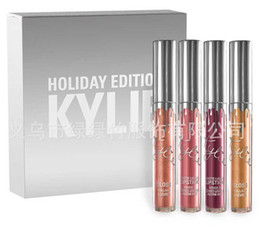 Wholesale Christmas Gift Set Ideas - IN STOCK!!!12sets lot Kylie Holiday Edition Kit 4pcs 6pcs Matte kylie jenner Liquid lipgloss Collection Set For Christmas Gift from idea