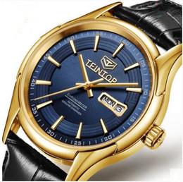 Wholesale Gilded Watch - Zhengpin watch fashion calendar men's watch real belt high-end waterproof men's automatic mechanical watch fashion gilding leather strap