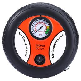 Wholesale Motor For Compressor - Mini Car Inflatable Pump Air Pumping Tire Pumps DC 12V Electric Tyre Pressure Monitor Compressor Portable for Bike Motor Ball