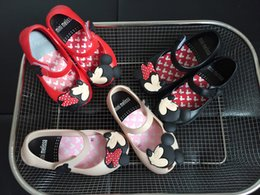 Wholesale Lace Infant Girl Shoes - Mini Melissa Children's Jelly Shoes Girl's Mickey Minnie Mouse Rain Shoes Kids Baby Infant Toddler Sandals