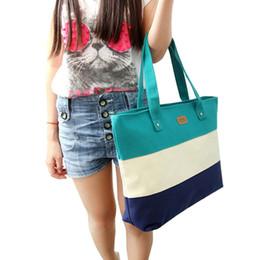 Wholesale Strip Pillow - Wholesale- Feitong Female bags 2016 Fashion Famous Brands Casual Strip Totes Shoulder Bags Bolsas Feminina Canvas Bag Ladies Bags Bolsos