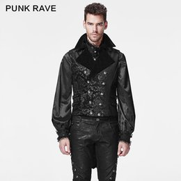 Wholesale Visual Kei - Wholesale- Punk rave Goth Fashion Retro Party Visual Kei Army Flower Victorian Top Jacket Y596 S-4XL