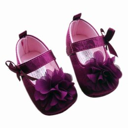 Wholesale Todder Boys - Wholesale- Baby Girl Shoes Todder First Walkers Shoes Infant Girls Prewalker Flower Soft Sole Shoe High Quality