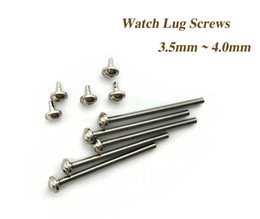 Wholesale Screw Strap - Wholesale-5 Size Stainless Steel Watch Band Spring Bar Strap Link Pins Repair Tool -- Watch Parts Lug Screw 16 - 24mm Herramientas