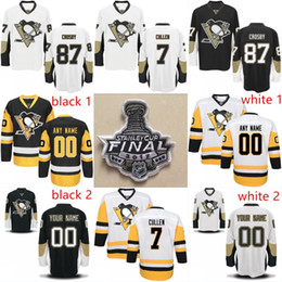 Wholesale Scott Yellow Jersey - 2017 Stanley Cup Final Jersey 7 Matt Cullen 13 Nick Bonino 23 Scott Wilson 62 Carl Hagelin 72 Patric Hornqvist Pittsburgh Penguins Jerseys