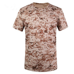 Wholesale Wholesale Dry Shirts - Men Summer Military Tactical Tshirt EMERSON Skin Tight Base Layer Camo Running Shirts Quick Dry Polyester ShortSleeve Mandrake Kryptek