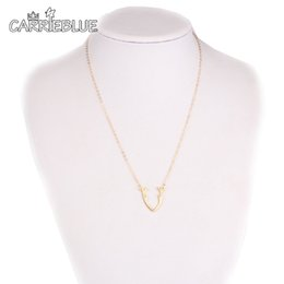 Wholesale Wholesale Antler Necklace - 2017 Deer Antler Necklaces Antler Jewelry Deer Necklace for Woman Gold silver reindeer Design choker Jewelry Women YR29