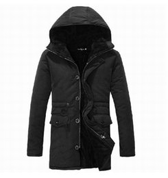 Wholesale Hooded Add Wool - Wholesale- 2014 Men's winter coat. skinny cotton-padded mens jacket, to add wool coat with hooded winter jacket coat ,free shipping