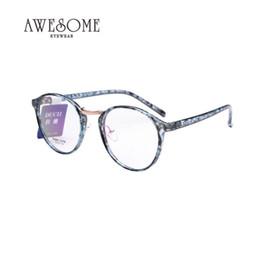 2019 quadros ópticos coloridos atacado Atacado-Ultra Light TR90 Oculos De Grau Colorido Eyeglasses Frame Para Mulheres Rodada Molduras Ópticas New lasses Frame X949 desconto quadros ópticos coloridos atacado