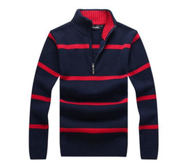 Wholesale Ivory Sweaters - 2017 Sweater Popular Golf Pony men sweater US Embroidery Horse Casual zipper Sweater Custom made Winter Male Jumpers M~2XL