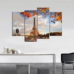 2020 pannelli a torre eiffel 4 Pannello Torre Eiffel Stampato Pittura A Olio Su Tela Art Home Decorativa Immagine Per Soggiorno Tableau Quadro Cuadros pannelli a torre eiffel economici