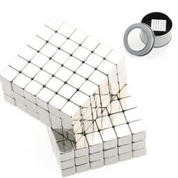 Wholesale Bucky Cubes - New Arrival 1 Set 5mm 216pcs Silver Buckycubes Bucky cubes Buckyballs Neodymium Magnet Square cube
