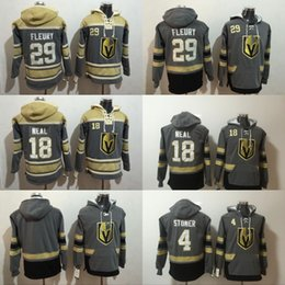 Wholesale White Sweatshirt Men - Vegas Golden Knights Marc-Andre Fleury Jersey Hoodie Pullover James Neal Clayton Stoner Sweatshirts Winter Jacket 100% Stitched
