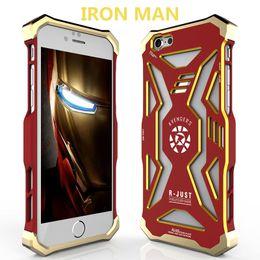 Wholesale Gundam Iphone Case - R-JUST Transformer Carbon Fiber Metal Case Frame Gundam Metal Dirt-resistant Case Aluminum Covers for iPhone 6 6s plus