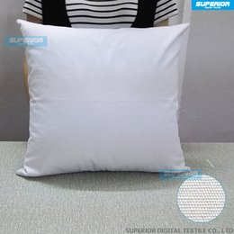 Wholesale Screen Color Squares - 8 oz Natural & White & Off White Color Cotton Canvas Pillow Case Any Size Blank Cushion Cover For Embroidery Screen Print Paint 100pcs lot