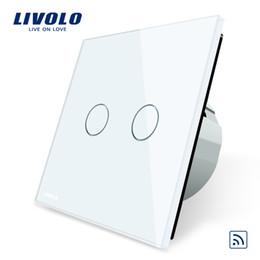 Livolo Standard UE, interruttore a distanza, pannello in cristallo, standard UE, interruttore a distanza con luce a parete + indicatore LED, C702R-1/2/3/5 da l'indicatore principale dell'interruttore a parete fornitori