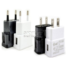 Wholesale 2a Wall - USB Wall Charger 5V 2A 1A AC Travel Home Adapter US EU Plug For Universal Smartphone Android Phone For Samsung S7 S8