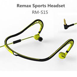 Wholesale Design Headphones - Remax RM-S15 Twist Design Neckband Sport Headset Portable Wired Earphone Waterproof Headphone Stereo HiFi Tone Bass 30 Degree Rotating Mic