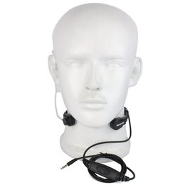 Wholesale Phone Earpieces - Wholesale- Retevis R-151 1Pin 3.5mm PTT Throat Mic Earpiece Covert Air Tube Headset With Slow rebound Earbud for Mobile Phone C9038A