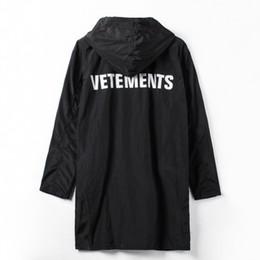 Wholesale Trench Coat Waterproof Woman - Wholesale- VETEMENTS POLIZEI OVERSIZED KANYE WEST Jacket Big Bang Extended Rain Coat Men Women Windbreaker Trench Waterproof Jacket Coats