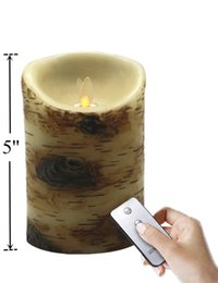 Wholesale Natural Led Candle - Most Realistic Flameless Moving Wick Real Wax Candle with Timer Remote Control – Bright Natural Swaying Flame, 3.5 x 5 Inch,