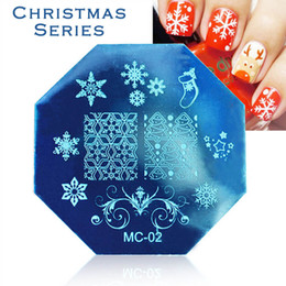 Wholesale Image Decoration - Wholesale-1 Piece Stainless Steel Christmas Style Nail Art Plates Nail Stamping Stencils Image Printing Templates Decoration Nail Polish
