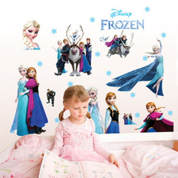 Wholesale Queen Small - Frozen Wall Stickers Cartoon Wall Stickers Decoration Queen Decorative Wall Sticker Decal Removable Kids Decor Adhesive Mural Art