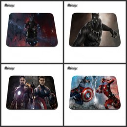 Wholesale More America - Captain America character customization antiskid rubber rectangle size more game mouse pad, computer desks can be as a gift