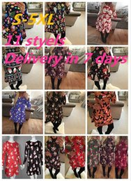 Wholesale Long Sleeve Sexy Christmas Dress - Plus Size 5XL Autumn Christmas Snowman Print Dresses Women Long Sleeve O-neck Bohemian Dresses Thin Loose A-line Mini Dresses DHL ONY170919