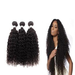 Wholesale 32inch virgin peruvian hair - 7A grade Brazilian Kinky Curly Virgin Hair Extensions 3 or 4 Piece Lot Unprocessed 100% Human Hair Weave Bundles 8-32inch Free Shipping