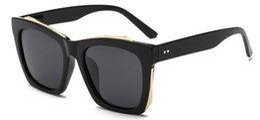 Wholesale Korean Men Sun Glass Fashion - New Pattern Sunglasses Korean Will Frame Polarized Light Mirror Tide Men And Women Colorful Sun Glasses oculos de sol gafas