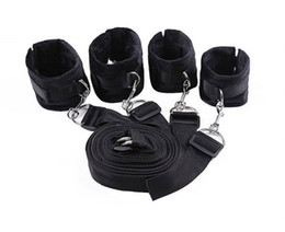 Wholesale Toys Femdom - New Bed Restraint System Pleasure bed Bondage Handcuffs Leg cuffs BDSM Slave Femdom Wrist Ankle Restraint Belt Adult Sex Toys