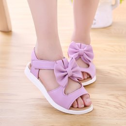 Wholesale Girls Summer Sandals - Girls Korean version 017 summer new children's beach shoes, baby shoes, big children, student sandals