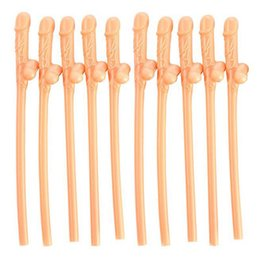 Wholesale Straw Penis - Hen Party willy Straws Sex products Dicky Jok Straw event Bachelorette party supplies Drinking Penis Straws 10pcs pack