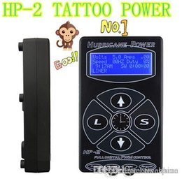 Wholesale Dual Tattoo Machine Power Supply - 2016 Professional Tattoo Power Supply Hurricane HP-2 Powe Supply Digital Dual LCD Display Tattoo Power Supply Machines Free Shipping