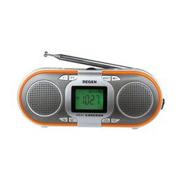 Wholesale degen dsp radio - Wholesale-Original Degen DE23 radio FM stereo MW SW DSP World Band radio Receiver MP3 mini speaker card Free shipping