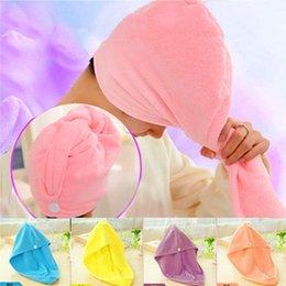 Wholesale Cheap Saunas - Cheap 1Pcs Hair Quick Drying Bath Towel Sauna Spa Tub Cap Head Wrap Shower Bath Caps