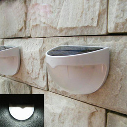 Wholesale Stairs Cover - 2017 Fashion 6 LEDs Sensor Solar Powered Light Outdoor Lamp LED Wall Light Garden Lamp ABS+PC Cover Color Package Home Stair Waterproof Bulb