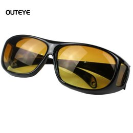 Wholesale Vision Designer - Wholesale- OUTEYE HD Night Vision steampunk goggles Lenses Sunglasses Men Women Night Driving Sun Glasses UV Protection Brand Designer W1
