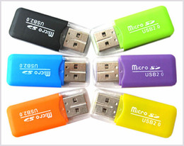 Wholesale 2gb Micro Usb - High Speed Card Reader USB 2.0 Micro SD card T-Flash TF M2 Memory Reader adapter 2gb 4gb 8gb 16gb 32gb 64gb TF Card DHL Free Shipping MQ300