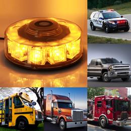 Wholesale Truck 24v Emergency Lights - Gledto LEDs 30W Flash Strobe Emergency Warning Hazard Warning Round Light Truck SUV Vehicle Car Roof Top