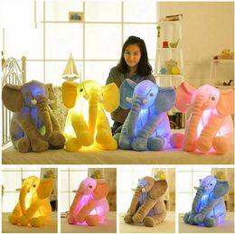 Wholesale Led Colorful Elephant - Plush Colorful Glowing Led Light Luminous Elephant Toy Stuffed Doll Pillow Sleeping Birthday Gift for Kids Children Baby c109