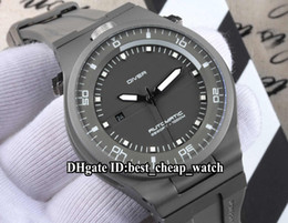 Wholesale Cheap Big Dial Watches - Super Clone Brand DIVER P'6780 P6780 Racing Design 47mm Automatic Removable Gray Dial Men's Watch Rubber Strap Cheap Big New Wristwatches