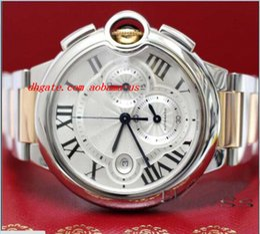 Wholesale Luxury Watches Chrono - Luxury Watches BRAND NEW 44MM 2-Tone Pink Gold Steel Chrono Watch W6920075 Watch With BOX Men's Watches MAN WATCH Wristwatch