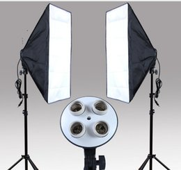 Wholesale Photo Socket - Photography Studio Kits 3 pcs Photo Studio Lighting Kit with 1Softbox   1*4in1 Bulb Socket  1* Light Stand