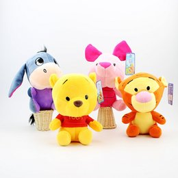 Wholesale Winnie Pooh Toys Wholesale - Plush Winnie the Pooh Toys Soft Baby Stuffed Animals Winnie Pooh Tiger Eeyore Piglet Dolls Anime Plush EMS