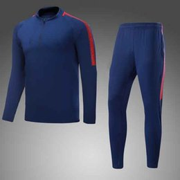 Wholesale Sweater Velvet Suit - 1718 Italy champion soccer sweater suit Stephan Shaarawy Honglang and Kostas Manolas with blue velvet zipper long sleeved sweater suit