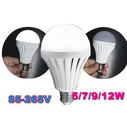 Wholesale light e27 rechargeable - E27 LED Smart Rechargeable Bulbs E27 Emergency Light Bulb Lamp Home Commercial Outdoor lighting 5W 7W 9W 12W AC85-265v