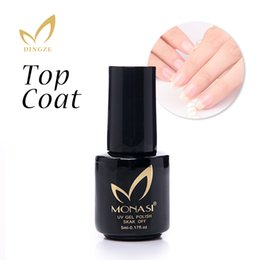 Wholesale Nial Polish - Wholesale-Eco-friendly UV Gel Nial Polish Primer No Wipe Top Coat Transparent Gel Nails Permanent Soak Off Long-lasting Enamel